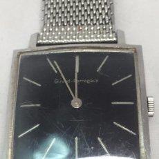 Relojes de pulsera: RELOJ PULSERA GIRARD PERREGAUX ORIGINAL FUNCIONANDO MITAD SIGLO XX ESFERA NEGRA MALLA DUCHESS METAL. Lote 103016819