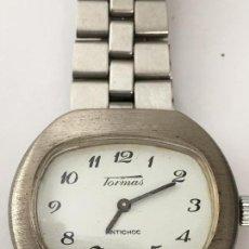Relojes de pulsera: RELOJ TORMAS DISEÑO RARO MECANICO C0M0 NUEVO FUNCIONA. Lote 103114111