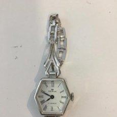 Relojes de pulsera: RELOJ DELZAR COREA DE ACERO FORMA EXAGONAL MANUAL NUEVO. Lote 103115547