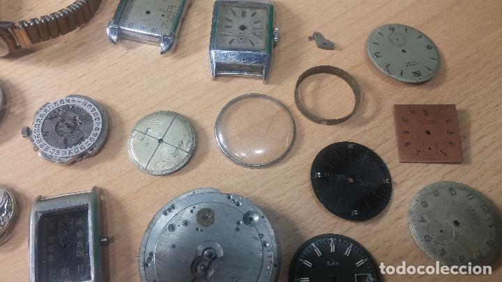 Relojes de pulsera: Gran colección de maquinas de reloj o relojes antiguos muy botitos, para reparar o para piezas... - Foto 11 - 103250643