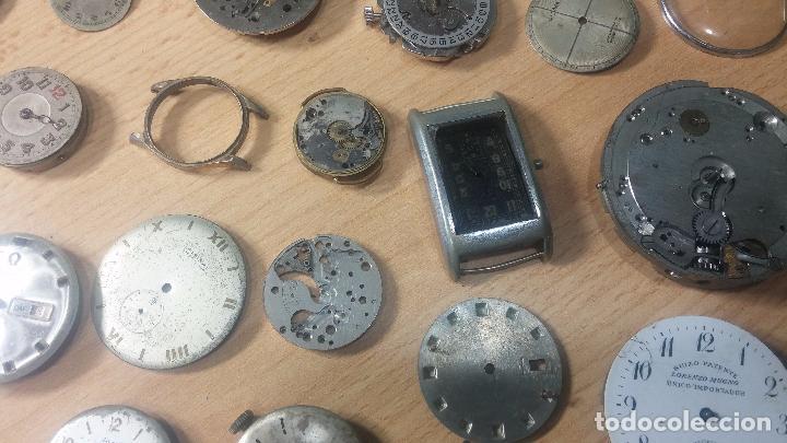 Relojes de pulsera: Gran colección de maquinas de reloj o relojes antiguos muy botitos, para reparar o para piezas... - Foto 15 - 103250643