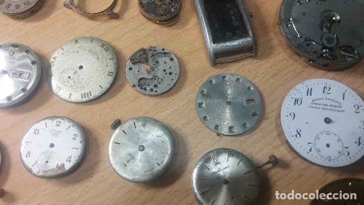 Relojes de pulsera: Gran colección de maquinas de reloj o relojes antiguos muy botitos, para reparar o para piezas... - Foto 16 - 103250643