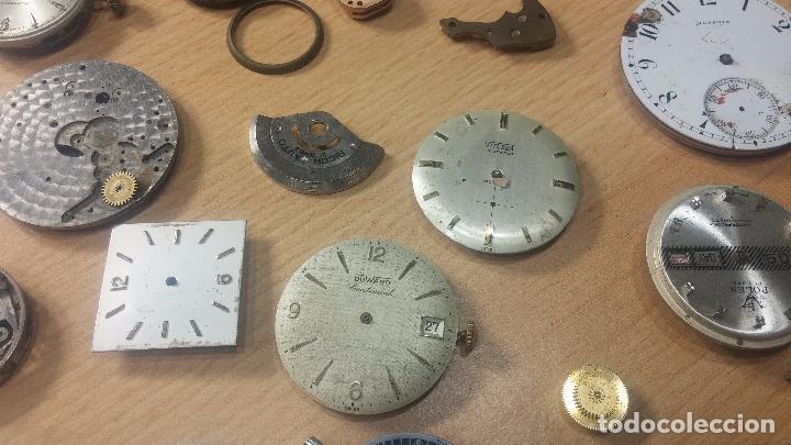 Relojes de pulsera: Gran colección de maquinas de reloj o relojes antiguos muy botitos, para reparar o para piezas... - Foto 21 - 103250643