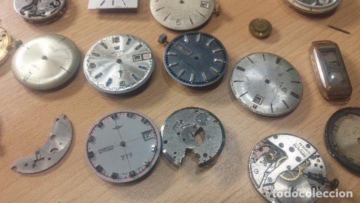 Relojes de pulsera: Gran colección de maquinas de reloj o relojes antiguos muy botitos, para reparar o para piezas... - Foto 23 - 103250643