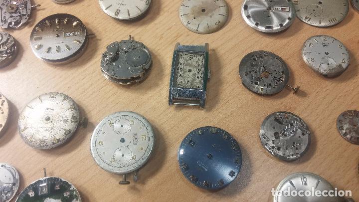 Relojes de pulsera: Gran colección de maquinas de reloj o relojes antiguos muy botitos, para reparar o para piezas... - Foto 55 - 103250643