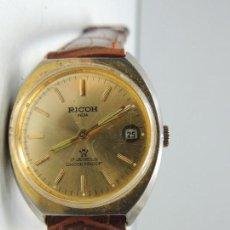 Relojes de pulsera: VINTAGE RELOJ CARGA MANUAL RICOH DE PULSERA - AÑOS 70 - 21 JEWELS. Lote 103493327