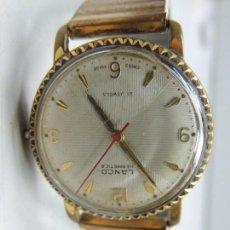 Relojes de pulsera: RELOJ VINTAGE . SUIZO DE CARGA MANUAL MARCA LANCO 21 JEWELS. Lote 103505083