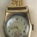 Relojes de pulsera: REL-5. RELOJ PULSERA RUFY DE SEÑORA. METAL CHAPADO. CADENA ZRC PLAQUÉ ORO. FUNCIONANDO.. Lote 103515663
