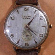 Relojes de pulsera: RELOJ SUIZO CAUNY PRIMA DELUXE DE CARGA MANUAL - CHAPADO EN ORO - 15 JEWELS. Lote 103623415