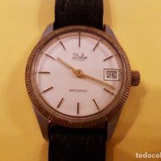 Relojes de pulsera: ANTIGUO RELOJ CARGA MANUAL DALIA17 RUBIS ANTICHOC CORREA DE BUFALO LEGITIMO. Lote 103727271