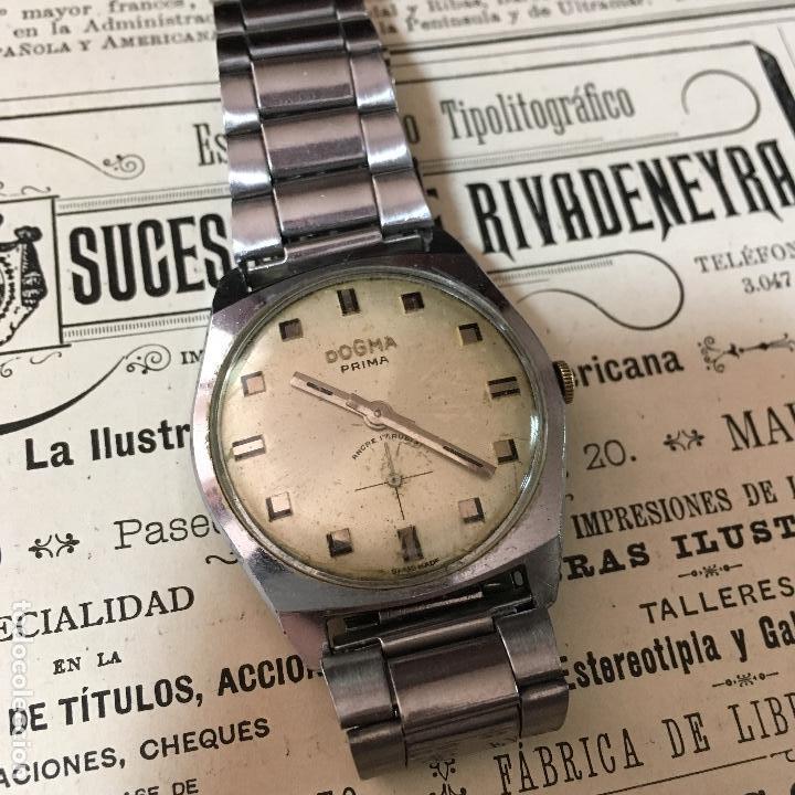 Relojes de pulsera: Reloj Dogma Prima a cuerda, funciona - Foto 2 - 104021939