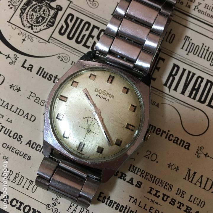 RELOJ DOGMA PRIMA A CUERDA, FUNCIONA (Relojes - Pulsera Carga Manual)