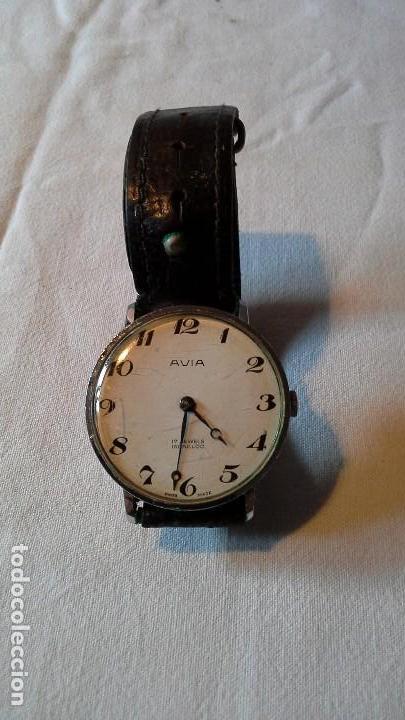 Relojes de pulsera: ANTIGUO RELOJ AVIA HECHO EN SUIZA - Foto 2 - 104052507