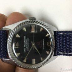 Relojes de pulsera: RELOJ WELLIMGTOM CHAPADO ESCUDO ORO MUY ESCASO CUERDA. Lote 104271419