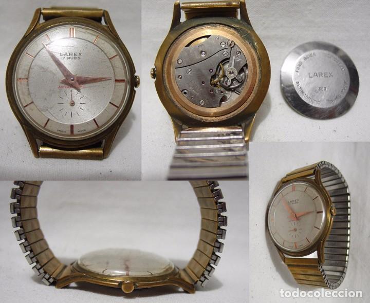LAREX. ANTIGUO RELOJ SUIZO. 17 RUBÍS. ANTIMAGNETIC. (Relojes - Pulsera Carga Manual)