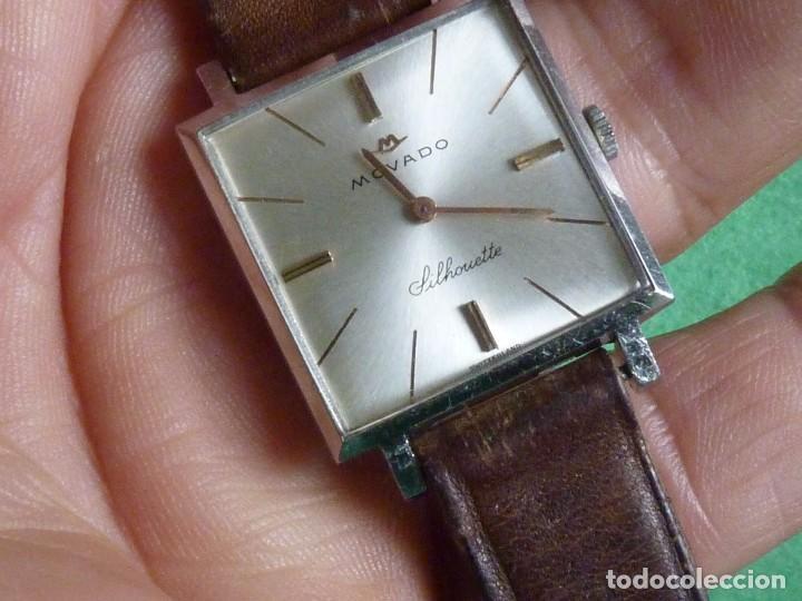 HERMOSO RELOJ MOVADO SILHOUETTE 17 RUBIS CALIBRE 245 UNIVERSAL GENEVE 820 AÑOS 60 COLECCIÓN VINTAGE (Relojes - Pulsera Carga Manual)