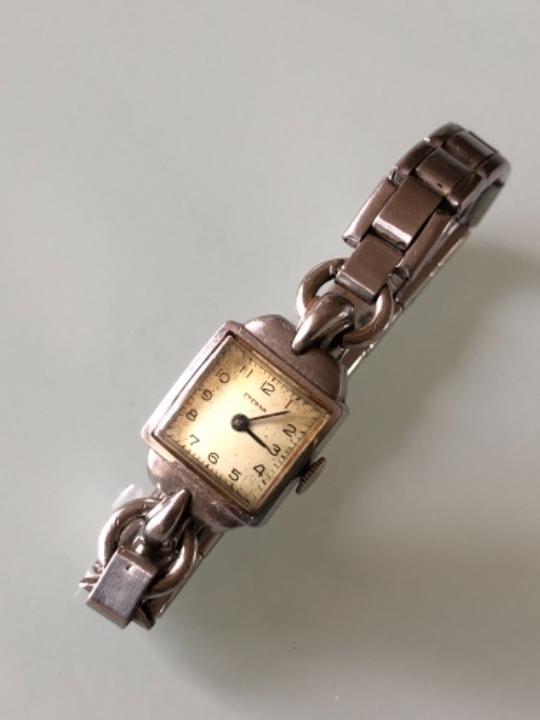 Relojes de pulsera: RELOJ MUJER ETERNA ESTILO DECO SWISS MADE CAJA Y ARMIS ACERO AÑOS 30 FUNCIONA PERFECTAMENTE - Foto 2 - 105661711