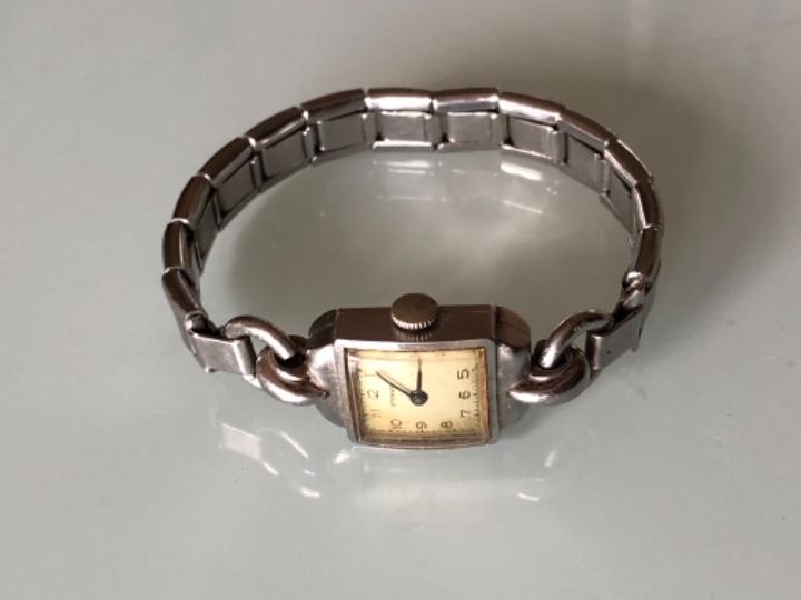 Relojes de pulsera: RELOJ MUJER ETERNA ESTILO DECO SWISS MADE CAJA Y ARMIS ACERO AÑOS 30 FUNCIONA PERFECTAMENTE - Foto 3 - 105661711