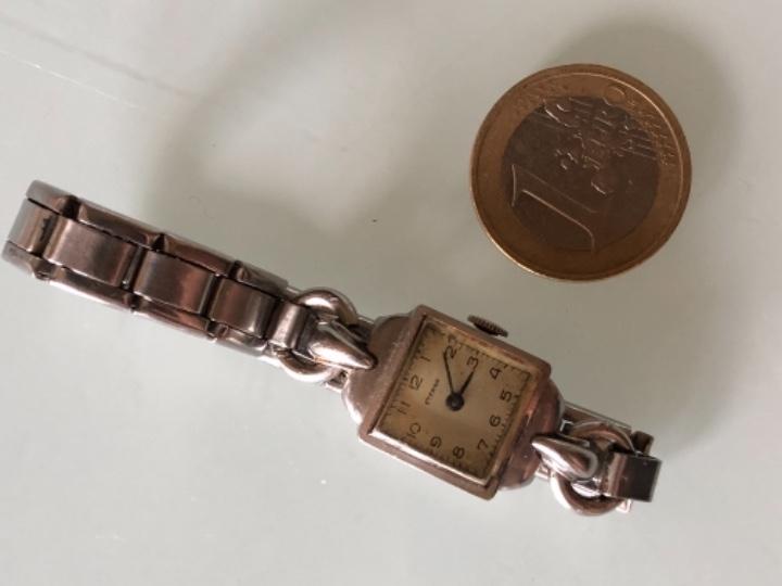 Relojes de pulsera: RELOJ MUJER ETERNA ESTILO DECO SWISS MADE CAJA Y ARMIS ACERO AÑOS 30 FUNCIONA PERFECTAMENTE - Foto 8 - 105661711