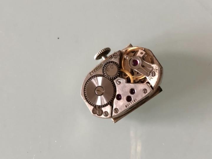 Relojes de pulsera: RELOJ MUJER ETERNA ESTILO DECO SWISS MADE CAJA Y ARMIS ACERO AÑOS 30 FUNCIONA PERFECTAMENTE - Foto 9 - 105661711