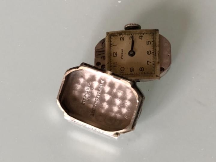 Relojes de pulsera: RELOJ MUJER ETERNA ESTILO DECO SWISS MADE CAJA Y ARMIS ACERO AÑOS 30 FUNCIONA PERFECTAMENTE - Foto 10 - 105661711