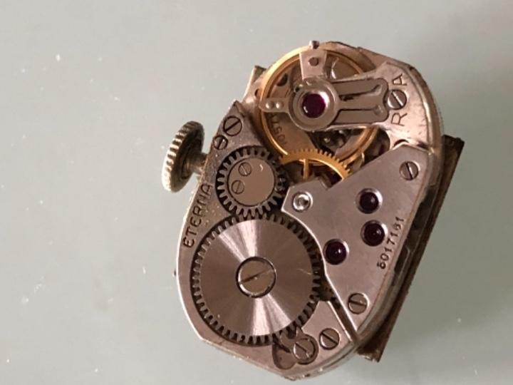 Relojes de pulsera: RELOJ MUJER ETERNA ESTILO DECO SWISS MADE CAJA Y ARMIS ACERO AÑOS 30 FUNCIONA PERFECTAMENTE - Foto 13 - 105661711