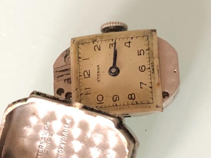 Relojes de pulsera: RELOJ MUJER ETERNA ESTILO DECO SWISS MADE CAJA Y ARMIS ACERO AÑOS 30 FUNCIONA PERFECTAMENTE - Foto 14 - 105661711