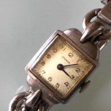Relojes de pulsera: RELOJ MUJER ETERNA ESTILO DECO SWISS MADE CAJA Y ARMIS ACERO AÑOS 30 FUNCIONA PERFECTAMENTE. Lote 105661711