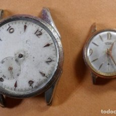 Relojes de pulsera: LOTE DE 2 RELOJ SUIZO LIDER Y TECHNOS DE CARGA MANUAL - PARA REPARAR O PIEZAS. Lote 105800431