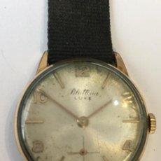Relojes de pulsera: RELOJ ANTIGUO DE LUXE BLATTINA DE CUERDA CHAPADO EN FUNCIONAMIENTO. Lote 106228251