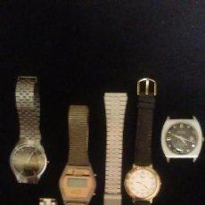 Relojes de pulsera: LOTE DE 6 RELOJES, DUWARD, GAYCHA 37TH AVENUE, WATERPROF, THERMIDOR, KABAO Y PLURELCO + UNA CORREA. Lote 106547351