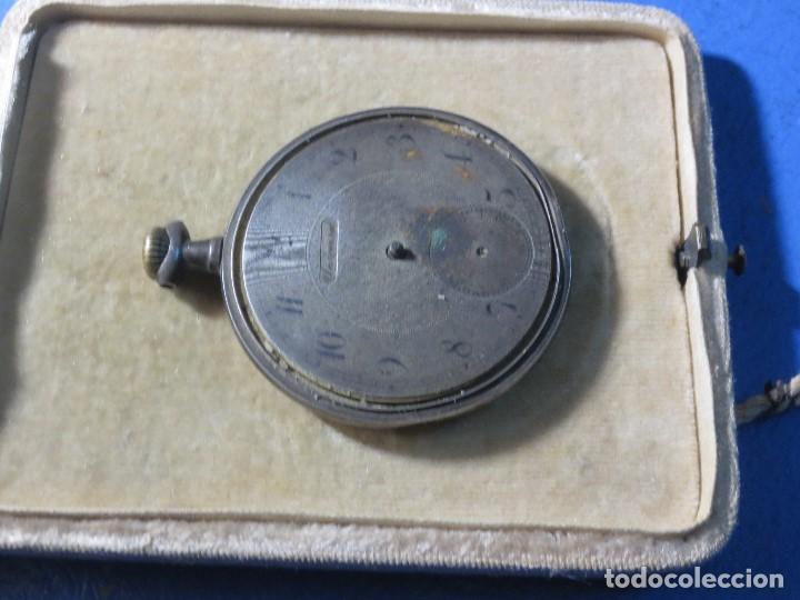 Relojes de pulsera: SABONETA RELOJ UNIVERSAL ANTIGUO PLATA SIGLO XIX DE PLATA 0`800 FUNCIONA FALTA CRISTAL Y AGUJAS - Foto 7 - 106658975