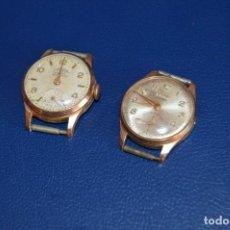 Relojes de pulsera: VINTAGE - LOTE DE 2 RELOJES DE CADETE / MUJER - DOGMA PRIMA - SWISS MADE - CARGA MANUAL - HAZ OFERTA. Lote 106770511