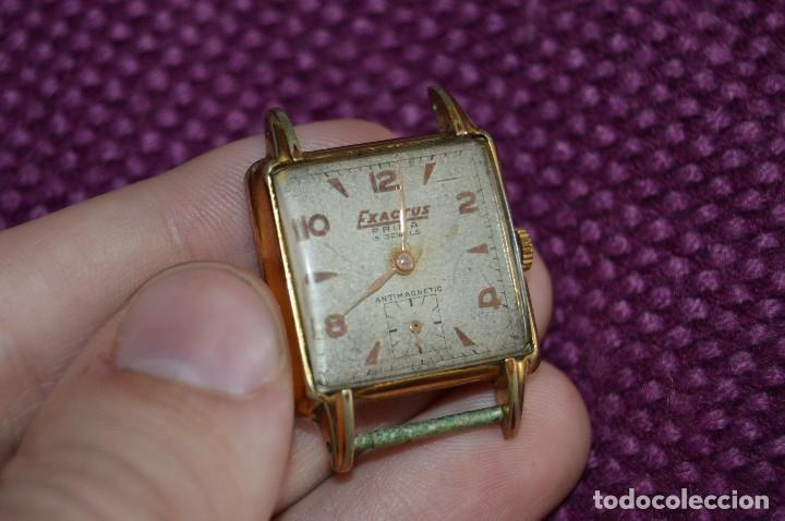 Relojes de pulsera: VINTAGE - ANTIGUO RELOJ EXACTUS PRIMA - 15 JEWEL - PRECIOSO - SWISS MADE - CARGA MANUAL - HAZ OFERTA - Foto 6 - 106774575