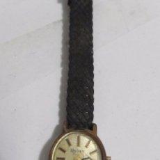 Relojes de pulsera: RELOJ RELAY DE CARGA MANUAL, CHAPADO EN ORO. Lote 106937443