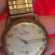 Relojes de pulsera: RELOJ ANTIGUO NACAR ORO?CHAPADO, CORREA FIXO FLEX. Lote 107411188