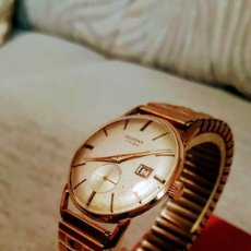Relojes de pulsera: RELOJ SWSS FESTINA CALENDARIO 17RUVIS DE CUERDA FUNCIONA PERFECTAMENTE DIÁMETRO 35MILIMTROS. Lote 109404851