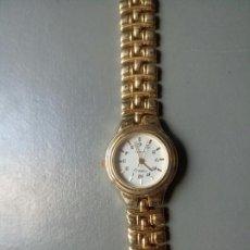 Relojes de pulsera: RELOJ FORELLI QUARTZ BAÑADO EN ORO 18K STAINLESS STEEL BACK. Lote 249324320