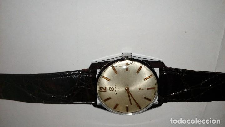 Relojes de pulsera: Reloj de pulsera caballro carga manual,cyma, funciona - Foto 2 - 109474711