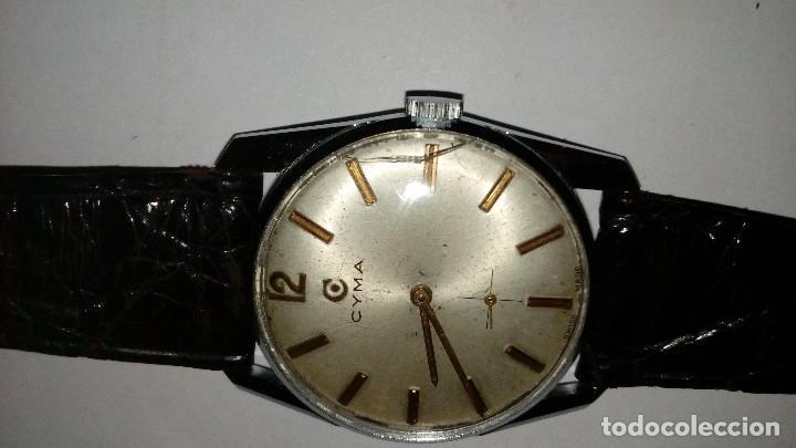 Relojes de pulsera: Reloj de pulsera caballro carga manual,cyma, funciona - Foto 3 - 109474711