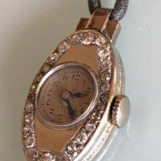 Relojes de pulsera - RELOJ JOYA VINTAGE DECO CAJA EN ORO BLANCO PLATINO Y BRILLANTES AÑOS 20 - 30 FUNCIONA CORRECTAMENTE - 107671475