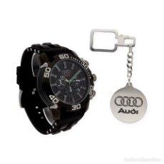 Relojes de pulsera: RELOJ CABALLERO S&S PARA AUDI Y LLAVERO CON MOTIVO DE LA MARCA. Lote 110613307