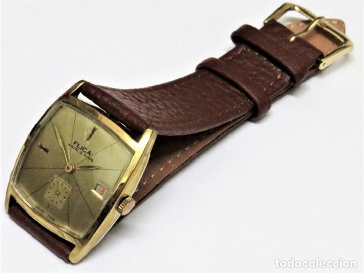 Relojes de pulsera: FLIKA DE CUERDA MANUAL FABRICACIÓN SUIZA - Foto 2 - 111994399