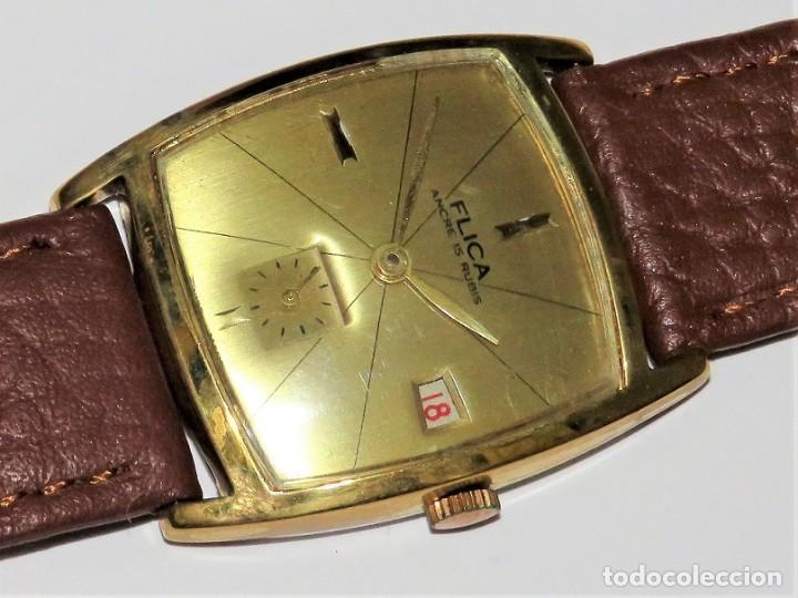 Relojes de pulsera: FLIKA DE CUERDA MANUAL FABRICACIÓN SUIZA - Foto 4 - 111994399