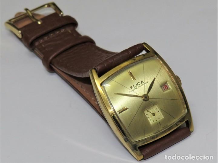 Relojes de pulsera: FLIKA DE CUERDA MANUAL FABRICACIÓN SUIZA - Foto 6 - 111994399