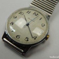 Relojes de pulsera: ANTIGUO RELOJ PULSERA RAKETA AÑOS 60 USSR RUSIA FUNCIONA BLANCO CARGA MANUAL. Lote 112747891