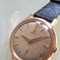 Relojes de pulsera: COLECCIONISTAS!. RELOJ OMEGA CAJA ORO 18 KILATES CALIBRE 410 AÑOS 40 FUNCIONA 34 MM DIAMETRO. Lote 112521563