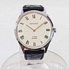 Relojes de pulsera: RELOJ ANTIGUO CADETE O SEÑORA DIAMANT 17 RUBIS ANTICHOC. MADE IN USSR.. Lote 112917091
