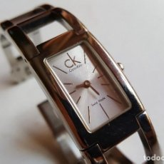 Relojes de pulsera: RELOJ SUIZO MUJER CALVIN KLEIN CRISTAL DE ZAFIRO METAL. Lote 113073731