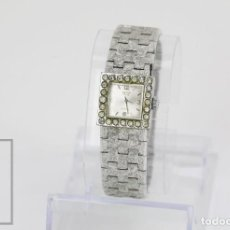 Relojes de pulsera: RELOJ DE PULSERA DE CARGA MANUAL PARA SEÑORA - CAUNY PRIMA - 17 RUBÍES / CORREA ESLABONES. Lote 113154627